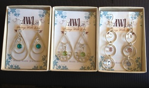 AWL jewelry in cute boxes.