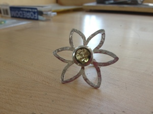 Finished flower ring.