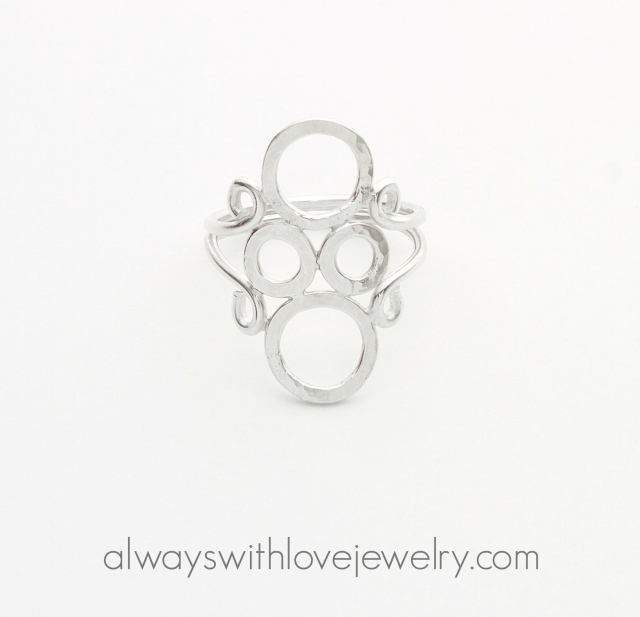Always With Love - Silver Bubbles ring