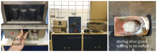 steam dewaxer, kiln and spincaster