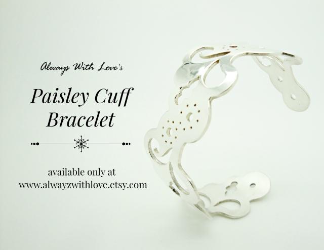 paisley cuff bracelet