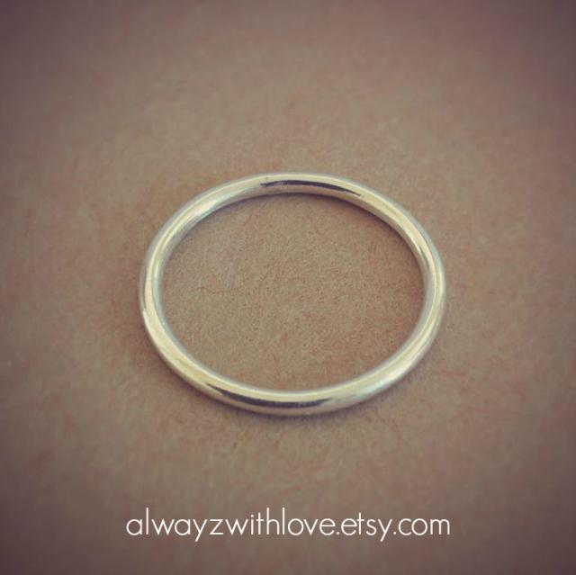 silver stack midi ring